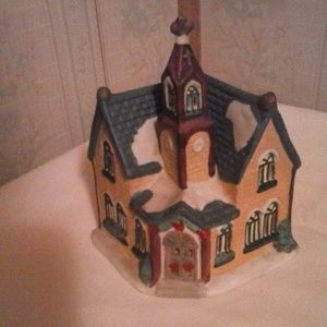 Other - Vintage Ceramic Church Tealight Candle Holder